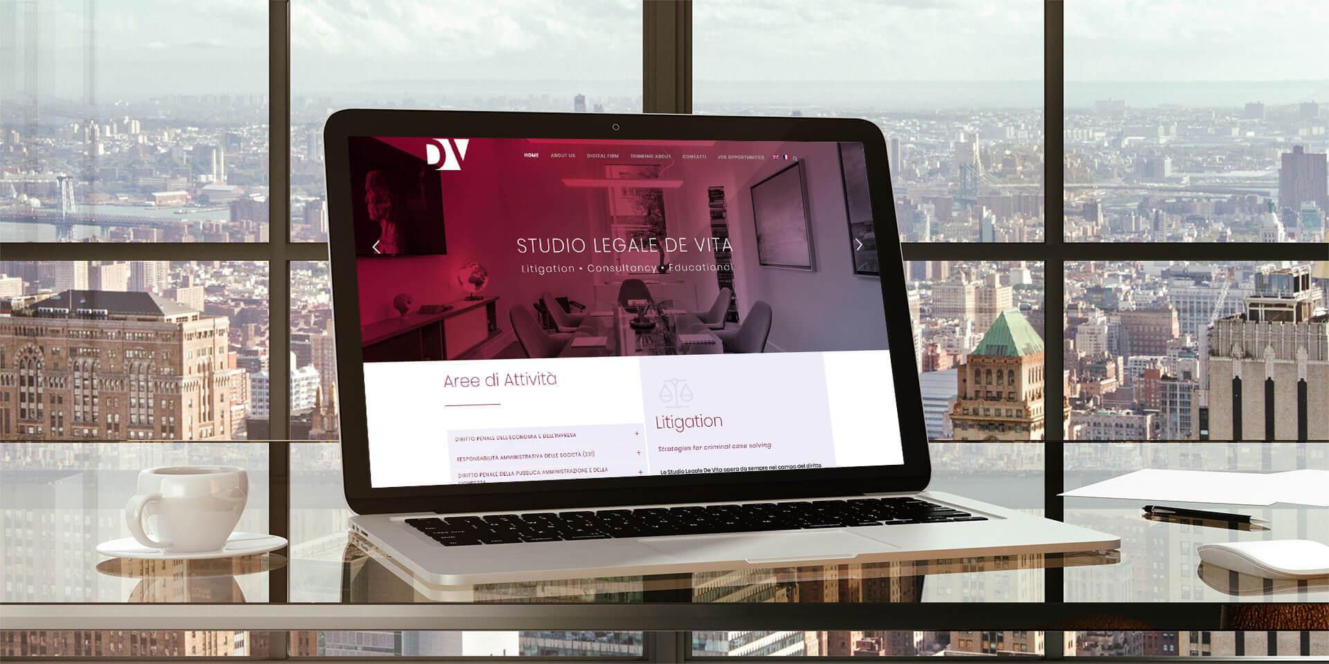 Claudia De Luca realizzazione sito WordPress Studio Legale