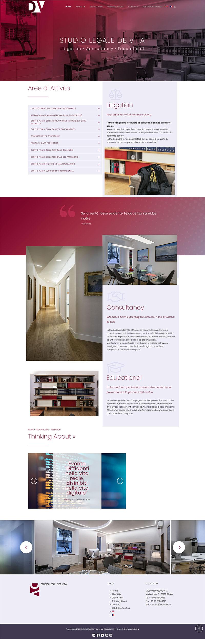 Claudia De Luca realizzazione sito in WordPress per Studio Legale ROMA