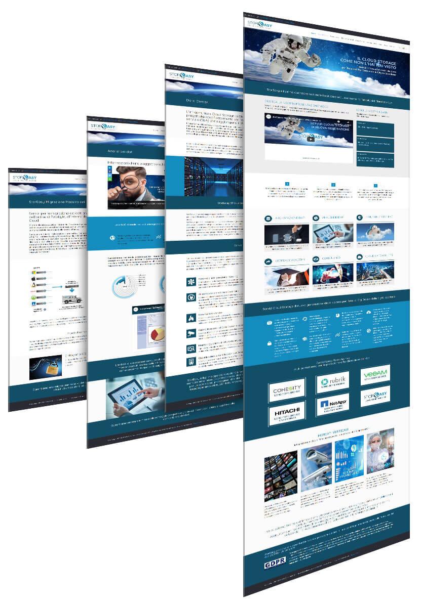 StorEasy, realizzazione sito aziendale in WordPress