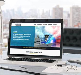 Realizzazione sito WordPress e materiali cartacei per Workshop Tiberio 2019