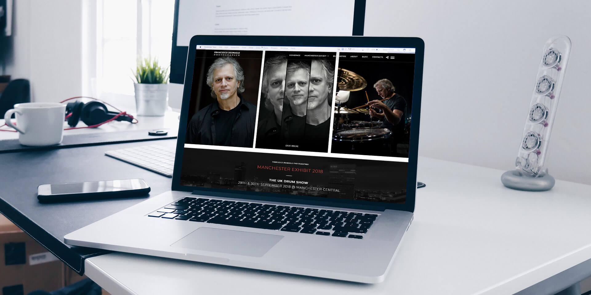 Sito Web per il fotografo Francesco Desmaele