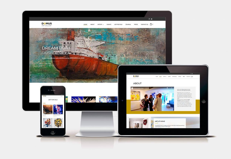Claudia De Luca Realizzazione siti web | Domus Art Gallery