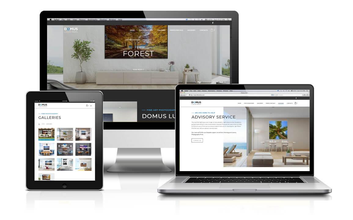 Claudia De Luca Realizzazione siti web | Domus Luxury Prints
